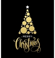 golden Christmas tree made vector image