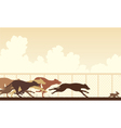 Greyhound dog race vector image vector image