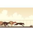 greyhound dog race vector image vector image