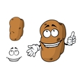 Happy goofy cartoon potato character vector image vector image