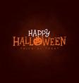 happy halloween banner vector image vector image