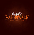 happy halloween banner with vector image vector image