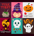 happy halloween posters set vector image