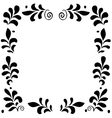 High quality original floral frame for postcard vector image vector image