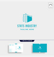 industry chart logo fabric industrial simple icon vector image