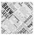 Intro To Microbrews Word Cloud Concept vector image vector image