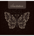 Invitation with abstract butterfly vector image vector image