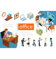 isometric business people concept vector image
