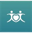 love people - heart vector image vector image