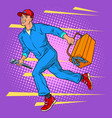 male master repairman runs vector image vector image