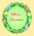 Merry Christmas advent wreath with garnishes vector image vector image