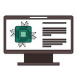 monitor computer with processor circuit vector image vector image