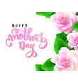 mothers day greetings card vector image vector image