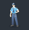 police officer with standing pose vector image