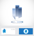 Real estate abstract shape logo vector image vector image