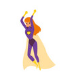 red haired caucasian girl or woman superhero in a vector image