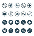 round medical and pharmaceutical icon set vector image vector image
