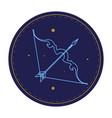 sagittarius astrological sign horoscope symbol vector image