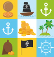 scrap nautical card with sea objects collection vector image vector image