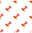 seamless pattern with flags canada vector image