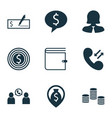 set of 9 human resources icons includes money vector image vector image