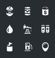 set of geology and oil icons vector image vector image