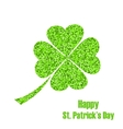 Shiny Twinkle Clover for St Patricks Day vector image vector image