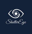 shutter eye photography logo design template vector image