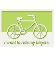 silhouette card with bicycle vector image vector image
