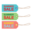 summer sign set vector image vector image