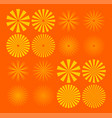 summer sun rays with orange and yellow background vector image