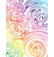 Swirling hand drawn of various colors vector image