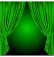 theatre curtain vector image vector image