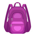 travel textile backpack vector image vector image