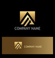 triangle arrow business gold logo vector image vector image