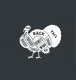 turkey butcher guide scheme vector image vector image