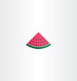 watermelon icon sign vector image vector image