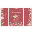 wedding invitation card save the date suite vector image vector image