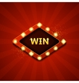 Win retro banners with glowing lamps vector image vector image