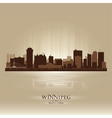 Winnipeg Manitoba skyline city silhouette vector image vector image