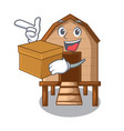 with box chiken coop isolated on a mascot vector image vector image