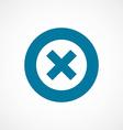 close bold blue border circle icon vector image