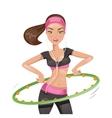 Girl with hula hoop vector image