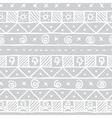Native skull seamless pattern vector image