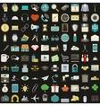 Universal 100 flat icons set vector image