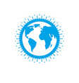 earth globe sign icon vector image