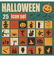 Halloween icon set Holiday design vector image