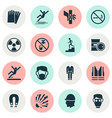 sign icons set includes icons such as cigarette vector image