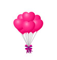 3d realistic bunch of pink birthday or valentines vector image vector image