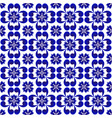 abstract flower blue pattern vector image vector image